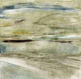 SOLD - monotype 150 x 150mm - Janet Dickson